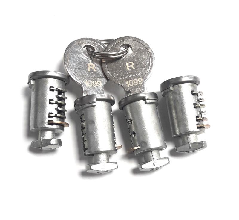 Zámková sada Hakr (4 zámky + 2 klíče)