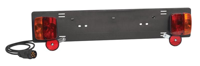 Samostatný zadní panel osvětlení a držák SPZ